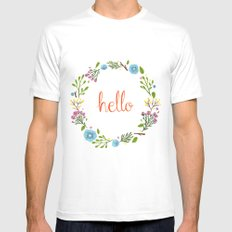 Hello Mens Fitted Tee White MEDIUM
