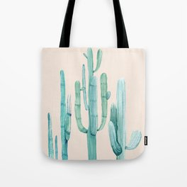 Three Amigos Turquoise + Coral Tote Bag