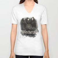 witchcraft V-neck T-shirts featuring Witchcraft by Corpse inc