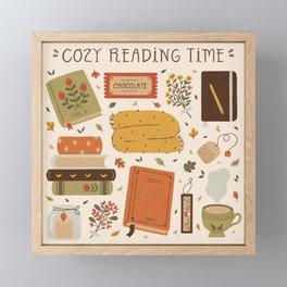 Cozy Reading Time Framed Mini Art Print