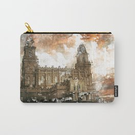 Manti LDS Temple Watercolor Photo Carry-All Pouch