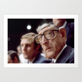 Coach Wooden Art Print