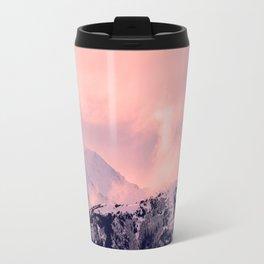 Kenai Mts Bathed in Serenity Rose - II Travel Mug