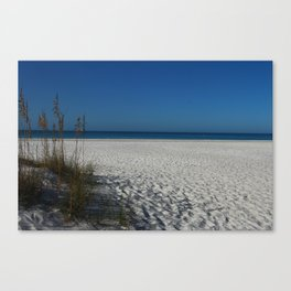 A Peaceful Day At A Marvelous Gulf Shore Beach Canvas Print