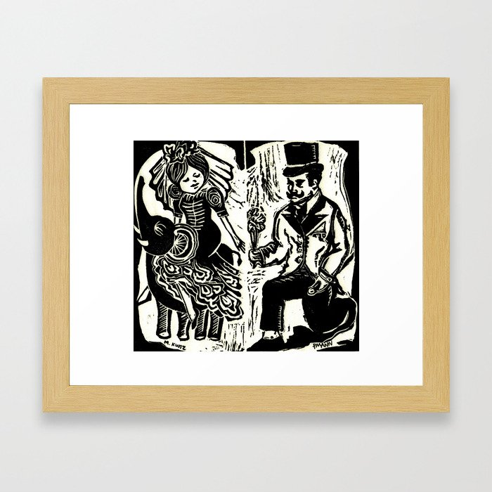 the betrothal Framed Art Print