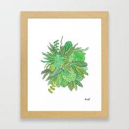 wild cacti Framed Art Print