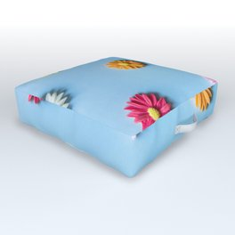 Flower Pattern Outdoor Floor Cushion