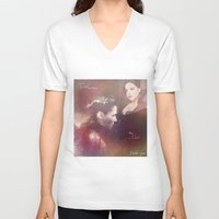 evil queen V-neck T-shirts featuring The Evil Queen by Daniela Vasco