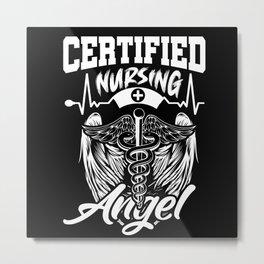Certified Nursing Angle Metal Print
