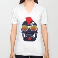 bones V-neck T-shirts featuring Bones by  Steve Wade ( Swade)