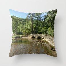 Gallox Bridge of Dunster Throw Pillow