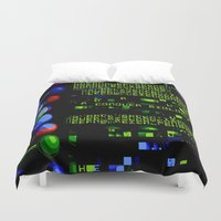 biology Duvet Covers featuring Conquer Biology by Leone Bachega