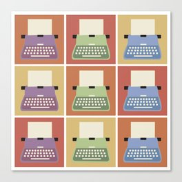 Typewriters Canvas Print