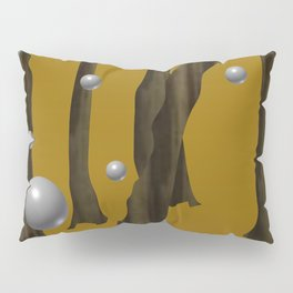 one red ball in the forest. Pillow Sham