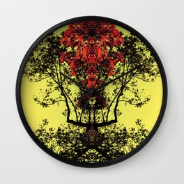 majestic - yellow Wall Clock
