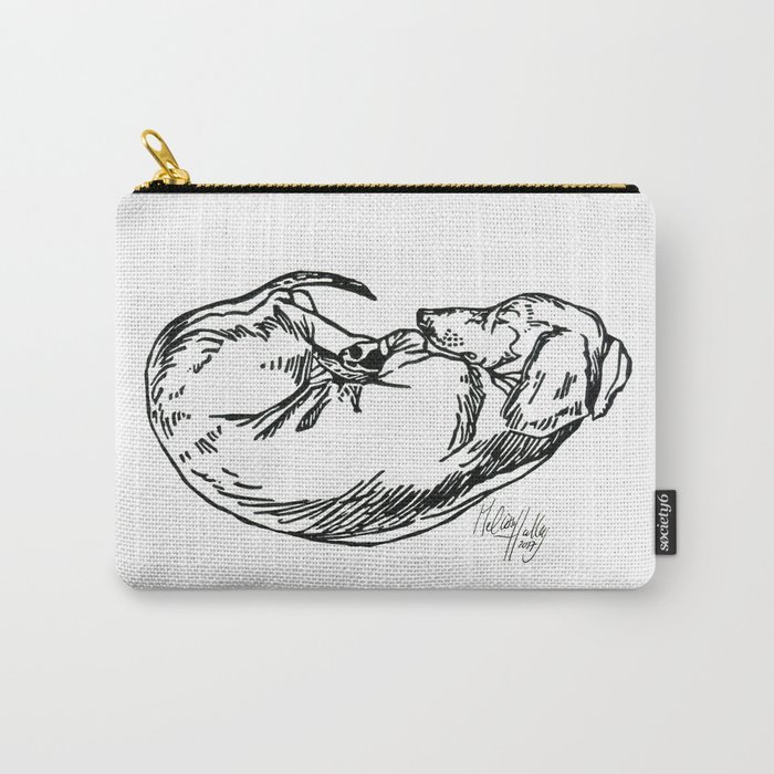Sleeping Dachshund Carry-All Pouch