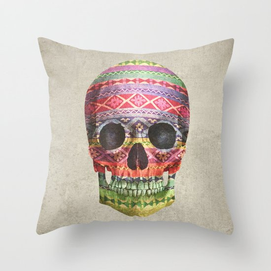 Navajo Skull  Throw Pillow