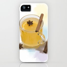 Digital Painting of Hot Apple Cider With Spices iPhone Case
