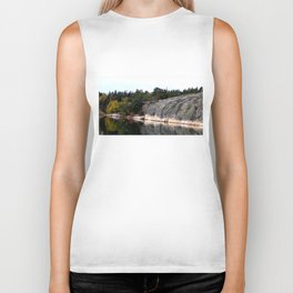 Fall Colors Accentuating Cliff Reflections Biker Tank