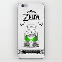 the legend of zelda iPhone & iPod Skins featuring Zelda legend - Green potion  by Art & Be