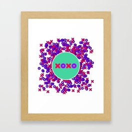 XOXO - Multi Framed Art Print