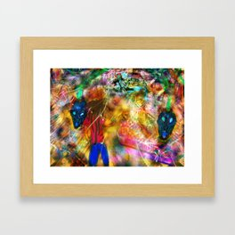 Interdimensional Exploration Framed Art Print