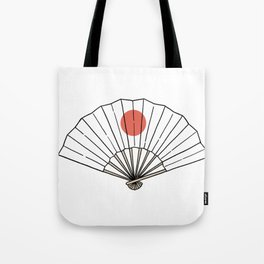 japanese hand fan Tote Bag