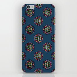 Cosmic Bloom Psychedelic Mandala Pattern iPhone Skin