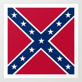 Confederacy Battle Flag Of Virginia Art Print