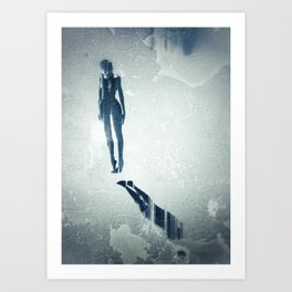 Float: Surreal digital art Art Print