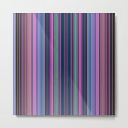 Purple stripes Metal Print