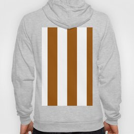 Wide Vertical Stripes - White and Brown Hoody