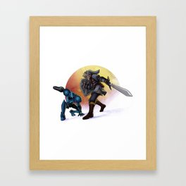 Blaster & Sword Framed Art Print