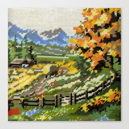 Found Tapestry Landscape Canvas Print