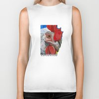 chicken Biker Tanks featuring Chicken by Jeanne Hollington