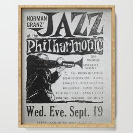 Vintage Jazz Poster, 1955 Serving Tray