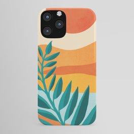 Mountain Sunset / Abstract Landscape Illustration iPhone Case