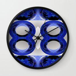 A Blue Paisley Wall Clock
