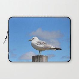 Seagull Bird Beach Art - Sitting Pretty - Sharon Cummings Laptop Sleeve
