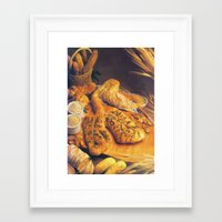 bread Framed Art Prints featuring Bread by Richard McGee
