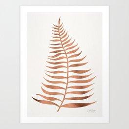 Palm Leaf – Rose Gold Art Print