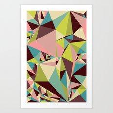 Triangle Pyramids Art Print