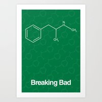 breaking bad Art Prints featuring Breaking Bad by Karolis Butenas
