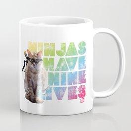 Ninjas Have Nine Lives Coffee Mug