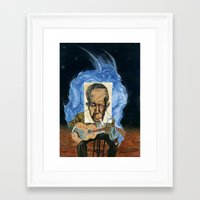 allyson johnson Framed Art Prints featuring Robert Johnson by C.M. Duffy
