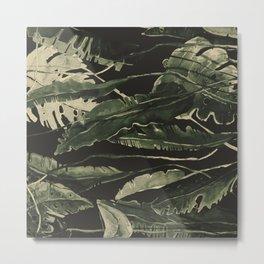 Horizontal Leaves Metal Print