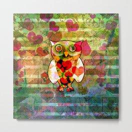 Valentine Owl Metal Print