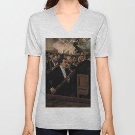 Edgar Degas - L'Orchestre de l'Opéra.jpg Unisex V-Neck