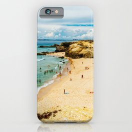 People Having Fun On Beach, Algarve Lagos Portugal, Tourists In Summer Vacation, Wall Art Decor iPhone Case
