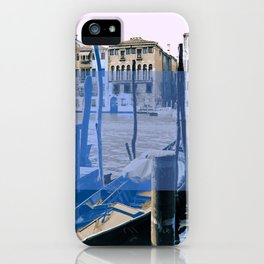 venice black and white and color iPhone Case